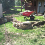 building a natural retaining wall