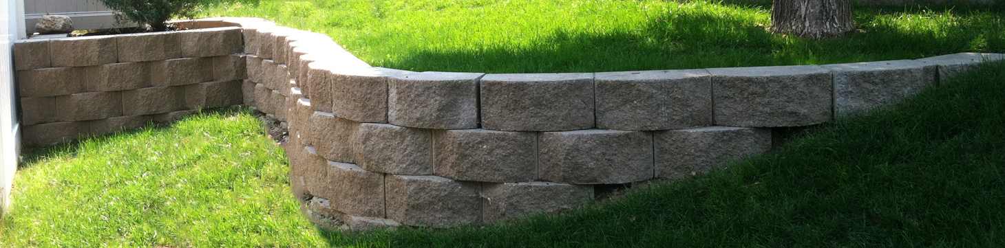 John's Home & Yard Service offers more than lawn services - we also work on landscaping projects here in the Billings area.