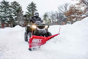ATV mounted snow plow